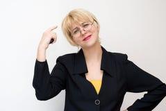 Émotions et habitudes du femme d'affaires Images libres de droits