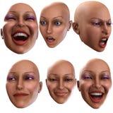 Émotions femelles 4 Photo stock