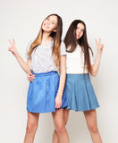 Émotions, les gens, ados et concept d'amitié - p de sourire heureux Photographie stock