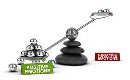 Émotions positives et bien-être émotif sain, psychologie C illustration de vecteur