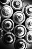 Énergie à l'intérieur des batteries Photographie stock libre de droits