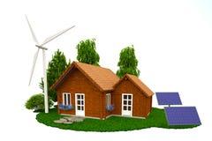 Énergie à la maison renouvelable Photographie stock libre de droits