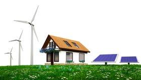 Énergie à la maison verte Images libres de droits