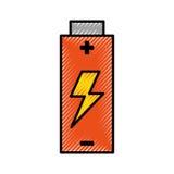 Énergie électrique de batterie illustration stock