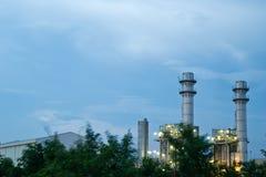 Énergie électrique de nakhon d'Amata la nuit Image stock