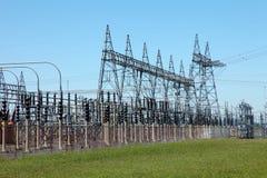 Énergie électrique et système de livraison. Image stock