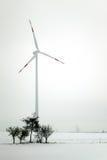 Énergie éolienne à l'hiver Photo libre de droits