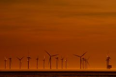Énergie éolienne Photographie stock libre de droits