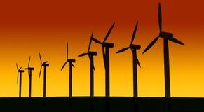 Énergie éolienne illustration de vecteur