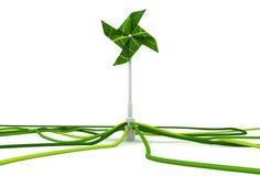 Énergie éolienne de moulin à vent Photographie stock libre de droits