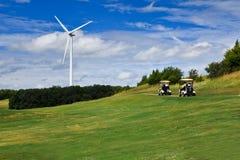 Énergie éolienne et golf Images libres de droits