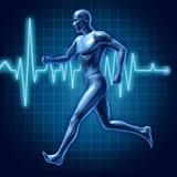 Énergie active de turbine d'homme courant humain médicale Photo libre de droits