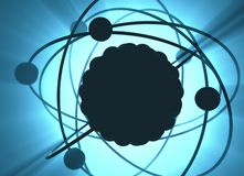 Énergie atomique d'énergie nucléaire illustration libre de droits