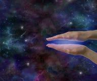 Énergie curative cosmique Photographie stock libre de droits