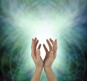 Énergie curative de lancement de Chakra de beau coeur photo stock