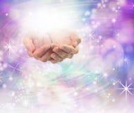 Énergie curative légère divine Photographie stock libre de droits