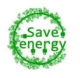 Énergie d'économies de vert Image libre de droits