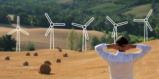 Énergie d'énergie éolienne de nature et Photographie stock libre de droits