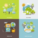 Énergie d'Eco plate illustration stock