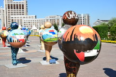 Énergie d'humain d'Astana Art Fest 2016 pour l'expo 2017 à Astana Photos stock