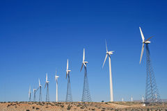 Énergie de ferme de vent photo libre de droits