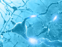 Énergie de neurone photographie stock libre de droits
