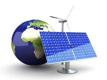 Énergie de substitution - l'Europe Photos stock