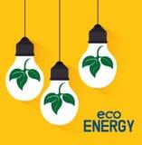 Énergie de vert d'Eco Photographie stock
