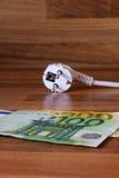 Énergie et argent photos stock