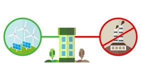 Énergie et pollution vertes pour la maison Images stock