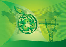 Énergie et pouvoir verts Images stock