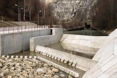 énergie hydraulique électrique de barrage Photographie stock libre de droits