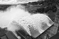 Énergie hydroélectrique : Vue à partir de dessus Image libre de droits