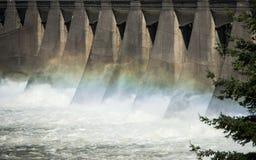 Énergie hydro-électrique de barrage Image stock