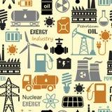 Énergie, l'électricité, fond sans couture de vecteur de puissance Photo stock