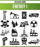 Énergie noire I d'ensemble d'icône illustration de vecteur
