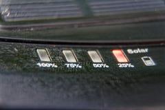 Énergie pure de générateur solaire de courant électrique, concept d'affaires images stock