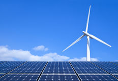 Énergie renouvelable Images libres de droits