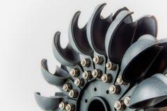 Énergie renouvelable de turbine de l'eau de Pelton Photo stock