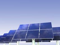 Énergie renouvelable - panneaux solaires Image libre de droits
