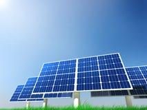 Énergie renouvelable - panneaux solaires Photographie stock libre de droits