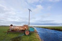 Énergie solaire dans l'agriculture Photographie stock libre de droits