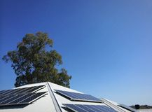 Énergie solaire domestique Image libre de droits