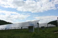 Énergie solaire, panneaux solaires, énergies renouvelables Images stock