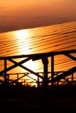 Énergie solaire pour l'énergie renouvelable électrique du soleil Photographie stock