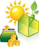 Énergie verte alternative ou concept de Chambre verte Images stock