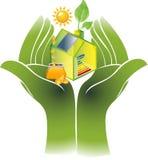 Énergie verte alternative ou concept de Chambre verte Photos libres de droits