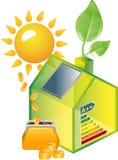 Énergie verte alternative ou concept de Chambre verte Image libre de droits