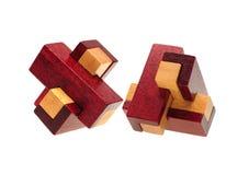 Énigme en bois images libres de droits
