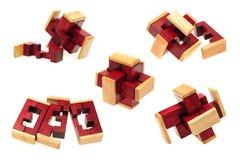 Énigme en bois photographie stock